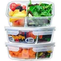 Lunch box en verre 2 compartiments