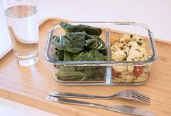 Lunch box en verre Pebbly