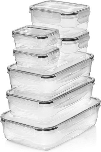 lot de boites de conservation en plastique pour frigo