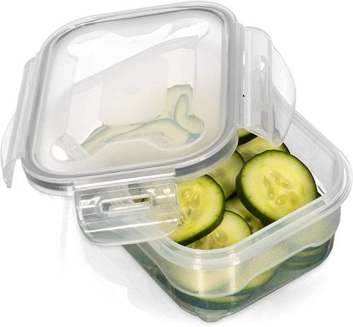 boites de conservation en plastique