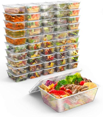 Lot de boites de conservation alimentaire en plastique pas cher