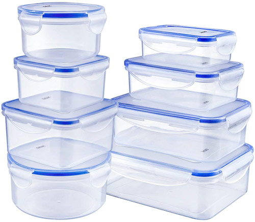 Lot de boites hermétiques en plastique alimentaires