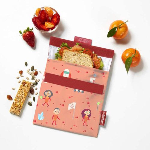 sac à gouter Roll'eat Snack'n'go pochette réutilisable et lavable