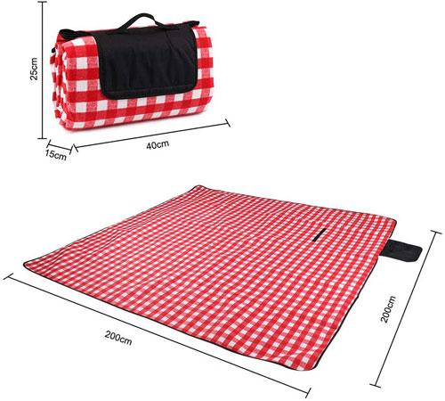 couverture de pique nique à carreaux