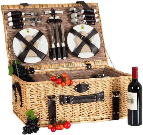 panier picnic de luxe pour 6 personnes