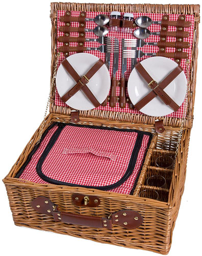 panier à picnic vintage en osier