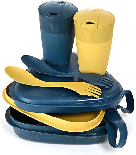 set de vaisselle pour pique nique 2 personnes