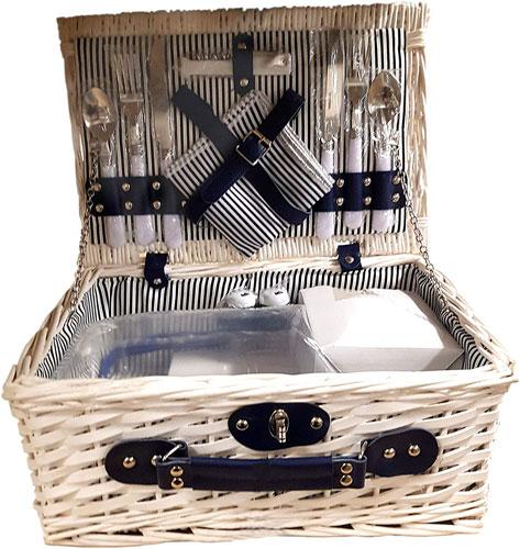 valise panier pique nique en osier blanc pas cher